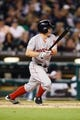 Jun 8, 2014; Detroit, MI, USA; Boston Red Sox left fielder Brock Holt (26) at bat against the Detroit Tigers at Comerica Park. Mandatory Credit: Rick Osentoski-USA TODAY Sports