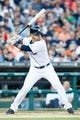Jun 7, 2014; Detroit, MI, USA; Detroit Tigers shortstop Eugenio Suarez (30) at bat against the Boston Red Sox at Comerica Park. Mandatory Credit: Rick Osentoski-USA TODAY Sports