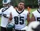 Jun 17, 2014; Philadelphia, PA, USA; Philadelphia Eagles inside linebacker Mychal Kendricks (95) during mini camp at the Philadelphia Eagles NovaCare Complex. Mandatory Credit: Bill Streicher-USA TODAY Sports