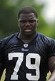 Jun 17, 2014; St. Louis, MO, USA; St. Louis Rams offensive tackle Greg Robinson (79) looks on during minicamp at Rams Park. Mandatory Credit: Jeff Curry-USA TODAY Sports