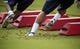 Jun 17, 2014; Houston, TX, USA; Houston Texans players go through drills during mini camp at Houston Methodist Training Center. Mandatory Credit: Andrew Richardson-USA TODAY Sports