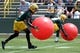 Jun 17, 2014; Green Bay, WI, USA; Green Bay Packers cornerback Davon House practices at the team's minicamp at Ray Nitschke Field. Mandatory Credit: Benny Sieu-USA TODAY Sports