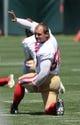 Jun 17, 2014; Santa Clara, CA, USA; San Francisco 49ers linebacker Chris Borland (50) stretches during minicamp at the 49ers practice facility. Mandatory Credit: Kelley L Cox-USA TODAY Sports