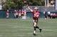 Jun 17, 2014; Santa Clara, CA, USA; San Francisco 49ers quarterback McLeod Bethel-Thompson (5) throws the ball during minicamp at the 49ers practice facility. Mandatory Credit: Kelley L Cox-USA TODAY Sports