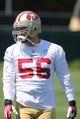 Jun 17, 2014; Santa Clara, CA, USA; San Francisco 49ers linebacker Blake Costanzo (56) during minicamp at the 49ers practice facility. Mandatory Credit: Kelley L Cox-USA TODAY Sports