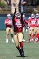Jun 17, 2014; Santa Clara, CA, USA; San Francisco 49ers tight end Asante Cleveland (45) during minicamp at the 49ers practice facility. Mandatory Credit: Kelley L Cox-USA TODAY Sports