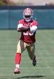 Jun 17, 2014; Santa Clara, CA, USA; San Francisco 49ers running back LaMichael James (23) during minicamp at the 49ers practice facility. Mandatory Credit: Kelley L Cox-USA TODAY Sports