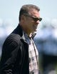 Jun 17, 2014; Alameda, CA, USA; Oakland Raiders former player Howie Long at minicamp at Raiders Practice Facility. Mandatory Credit: Kirby Lee-USA TODAY Sports