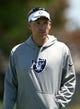 Jun 17, 2014; Alameda, CA, USA; Oakland Raiders coach Dennis Allen at minicamp at Raiders Practice Facility. Mandatory Credit: Kirby Lee-USA TODAY Sports