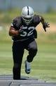 Jun 17, 2014; Alameda, CA, USA; Oakland Raiders linebacker Khalil Mack (52) at minicamp at Raiders Practice Facility. Mandatory Credit: Kirby Lee-USA TODAY Sports