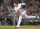 Jun 17, 2014; Boston, MA, USA; Boston Red Sox relief pitcher Junichi Tazawa (36) pitches during the eighth inning against the Minnesota Twins at Fenway Park. Mandatory Credit: Bob DeChiara-USA TODAY Sports