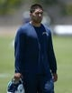 Jun 18, 2014; San Diego, CA, USA; San Diego Chargers linebacker Manti Te'o at minicamp at Chargers Park. Mandatory Credit: Kirby Lee-USA TODAY Sports