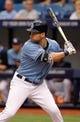 Jun 8, 2014; St. Petersburg, FL, USA; Tampa Bay Rays center fielder Kevin Kiermaier (39) at bat against the Seattle Mariners at Tropicana Field. Mandatory Credit: Kim Klement-USA TODAY Sports