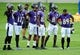 Jun 19, 2014; Baltimore, MD, USA; Baltimore Ravens wide receivers (from left to right) LaQuan Williams, Jacoby Jones, Gerrard Sheppard, Torrey Smith, Deonte Thompson, and Steve Smith, Sr. look on during minicamp at the Under Armour Performance Center. Mandatory Credit: Evan Habeeb-USA TODAY Sports