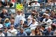Jun 22, 2014; Bronx, NY, USA;  A fan displays a sign during the game between the New York Yankees and the Baltimore Orioles at Yankee Stadium. Mandatory Credit: Anthony Gruppuso-USA TODAY Sports