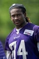 Jun 17, 2014; Eden Prairie, MN, USA; Minnesota Vikings wide receiver Cordarrelle Patterson (84) leaves the field after practice at Winter Park. Mandatory Credit: Bruce Kluckhohn-USA TODAY Sports