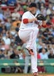 Jun 17, 2014; Boston, MA, USA; Boston Red Sox starting pitcher Jon Lester (31) pitches during the first inning against the Minnesota Twins at Fenway Park. Mandatory Credit: Bob DeChiara-USA TODAY Sports