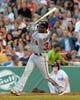 Jun 16, 2014; Boston, MA, USA; Minnesota Twins center fielder Danny Santana (39) bats during the third inning against the Boston Red Sox at Fenway Park. Mandatory Credit: Bob DeChiara-USA TODAY Sports