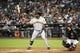 Jun 21, 2014; Phoenix, AZ, USA; San Francisco Giants third baseman Pablo Sandoval (48) bats against the Arizona Diamondbacks at Chase Field. The Giants won 6-4. Mandatory Credit: Joe Camporeale-USA TODAY Sports