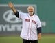 Jun 16, 2014; Boston, MA, USA; American actor Rob Reiner waves to the crowd prior to throwing out the first pitch in a game between the Boston Red Sox and Minnesota Twins at Fenway Park. Mandatory Credit: Bob DeChiara-USA TODAY Sports