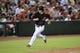Jun 21, 2014; Phoenix, AZ, USA; Arizona Diamondbacks second baseman Aaron Hill (2) rounds third base and scores a run against the San Francisco Giants at Chase Field. The Giants won 6-4. Mandatory Credit: Joe Camporeale-USA TODAY Sports