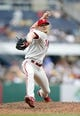Jul 6, 2014; Pittsburgh, PA, USA; Philadelphia Phillies relief pitcher Jake Diekman (63) pitches against the Pittsburgh Pirates during the eighth inning at PNC Park. The Pirates won 6-2. Mandatory Credit: Charles LeClaire-USA TODAY Sports