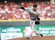 Jul 12, 2014; Cincinnati, OH, USA; Pittsburgh Pirates starting pitcher Charlie Morton (50) pitches during the second inning against the Cincinnati Reds at Great American Ball Park. Mandatory Credit: Frank Victores-USA TODAY Sports