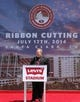 Jul 17, 2014; Santa Clara, CA, USA; Santa Clara mayor Jamie Matthews speaks during the ribbon cutting ceremony at Levi's Stadium. Mandatory Credit: Kelley L Cox-USA TODAY Sports