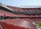 Jul 17, 2014; Santa Clara, CA, USA; General view of the stands during a tour before the ribbon cutting ceremony at Levi's Stadium. Mandatory Credit: Kelley L Cox-USA TODAY Sports