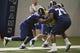 Jul 22, 2014; St. Louis, MO, USA; St. Louis Rams center Demetrius Rhaney (65) runs through drills at Rams Park. Mandatory Credit: Jeff Curry-USA TODAY Sports