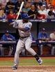 Jul 7, 2014; St. Petersburg, FL, USA; Kansas City Royals center fielder Lorenzo Cain (6) at bat against the Tampa Bay Rays at Tropicana Field. Mandatory Credit: Kim Klement-USA TODAY Sports