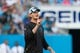 Jul 25, 2014; Charlotte, NC, USA; Carolina Panthers quarterback coach Ken Dorsey gives instructions during training camp at Bank of America Stadium. Mandatory Credit: Jeremy Brevard-USA TODAY Sports