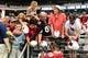 Jul 26, 2014; Tempe, AZ, USA; Arizona Cardinals cornerback Justin Bethel (28) signs autographs for fans during training camp at University of Phoenix. Mandatory Credit: Matt Kartozian-USA TODAY Sports