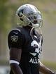 Jul 28, 2014; Napa, CA, USA; Oakland Raiders cornerback Neiko Thorpe (31) at training camp at Napa Valley Marriott. Mandatory Credit: Kirby Lee-USA TODAY Sports