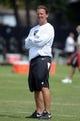 Jul 28, 2014; Napa, CA, USA; Oakland Raiders offensive coordinator Greg Olson at training camp at Napa Valley Marriott. Mandatory Credit: Kirby Lee-USA TODAY Sports