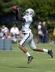 Jul 28, 2014; Napa, CA, USA; Oakland Raiders receiver Seth Roberts (85) catches a pass at training camp at Napa Valley Marriott. Mandatory Credit: Kirby Lee-USA TODAY Sports