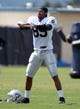 Jul 28, 2014; Napa, CA, USA; Oakland Raiders receiver Seth Roberts (85) stretches at training camp at Napa Valley Marriott. Mandatory Credit: Kirby Lee-USA TODAY Sports