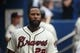 Jul 20, 2014; Atlanta, GA, USA; Atlanta Braves right fielder Jason Heyward (22) walks in the dugout in their game against the Philadelphia Phillies at Turner Field. The Braves won 8-2. Mandatory Credit: Jason Getz-USA TODAY Sports