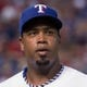 Jul 25, 2014; Arlington, TX, USA; Texas Rangers starting pitcher Jerome Williams (44) during the game against the Oakland Athletics at Globe Life Park in Arlington. The Rangers defeated the Athletics 4-1. Mandatory Credit: Jerome Miron-USA TODAY Sports