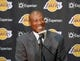 Jul 29, 2014; El Segundo, CA, USA; Byron Scott is introduced as Los Angeles Lakers coach at a press conference at Toyota Sports Center. Mandatory Credit: Kirby Lee-USA TODAY Sports