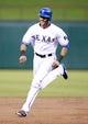 Jul 29, 2014; Arlington, TX, USA; Texas Rangers right fielder Alex Rios (51) runs the bases in the third inning against the Texas Rangers at Globe Life Park in Arlington. Mandatory Credit: Tim Heitman-USA TODAY Sports