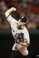 Jul 29, 2014; Arlington, TX, USA; New York Yankees relief pitcher David Robertson (30) throws a pitch in the ninth inning against the Texas Rangers at Globe Life Park in Arlington.  New York beat Texas 12-11. Mandatory Credit: Tim Heitman-USA TODAY Sports