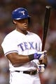 Jul 30, 2014; Arlington, TX, USA; Texas Rangers third baseman Adrian Beltre (29) at the plate in the seventh inning against the New York Yankees at Globe Life Park in Arlington.  Texas beat New York 3-2. Mandatory Credit: Tim Heitman-USA TODAY Sports
