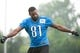 Aug 2, 2014; Detroit, MI, USA; Detroit Lions wide receiver Calvin Johnson (81) during training camp at the Detroit Lions training facility. Mandatory Credit: Tim Fuller-USA TODAY Sports