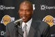 Jul 29, 2014; El Segundo, CA, USA; Byron Scott is introduced as Los Angeles Lakers coach at press conference at Toyota Sports Center. Mandatory Credit: Kirby Lee-USA TODAY Sports