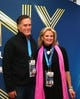 Feb 2, 2014; East Rutherford, NJ, USA; American politician Mitt Romney (left) with wife Ann Romney before Super Bowl XLVIII between the Seattle Seahawks and the Denver Broncos at MetLife Stadium.  Mandatory Credit: Mark J. Rebilas-USA TODAY Sports