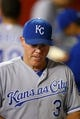 Aug 6, 2014; Phoenix, AZ, USA; Kansas City Royals manager Ned Yost against the Arizona Diamondbacks at Chase Field. Mandatory Credit: Mark J. Rebilas-USA TODAY Sports