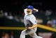 Aug 6, 2014; Phoenix, AZ, USA; Kansas City Royals pitcher Wade Davis against the Arizona Diamondbacks at Chase Field. Mandatory Credit: Mark J. Rebilas-USA TODAY Sports