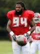 Jul 28, 2014; Tampa, FL, USA; Tampa Bay Buccaneers defensive end Adrian Clayborn (94) during training camp at One Buc Place. Mandatory Credit: Kim Klement-USA TODAY Sports