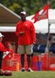 Jul 28, 2014; Tampa, FL, USA; Tampa Bay Buccaneers head coach Lovie Smith during training camp at One Buc Place. Mandatory Credit: Kim Klement-USA TODAY Sports